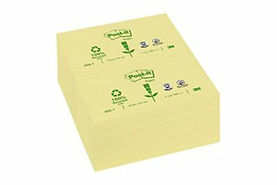 NEUWERTIG: Post-it Recycling Notes 12 Blöcke à 100 Blatt, gelb (127 x 76 mm)