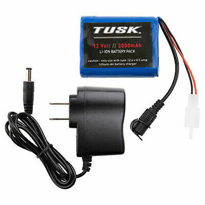 Tusk Enduro Lighting Kit Replacement Lithium Battery Pack W/Charger,Dual Sport