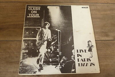 The Clash - Clash On Tour Live In Paris 1977/78 UK LP INSTANT LETTERING 1st