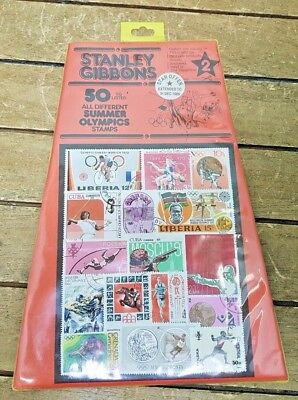 Stanley Gibsons 50  All Different Summer Olympics Stamps Extended to 1989