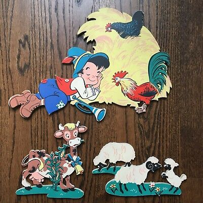"Vintage Mother Goose Pin Ups ""Little Boy Blue"" 1950's"