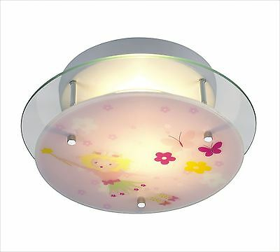 Fairy Tail design ceiling light solid glass and metal suits any girls bedroom