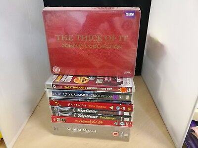 9 New & Sealed DVD's Thick Of It, An Idiot Abroad, TopGear Top Gear, Friends #1