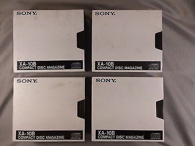 Lot of 4 Sony XA-10B Compact Disc Magazine 10 Disc Automatic Changer With Sleeve