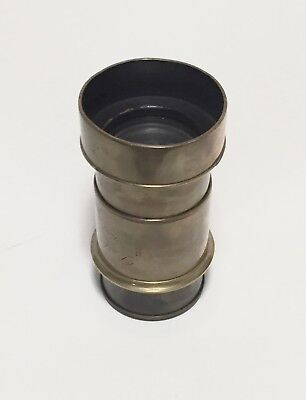 Darlot  Brass Petzval Lens , unsure of focal length but will cover 4x5