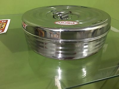SAWASTIKA Stainles Steel Spice Box Indian Masala Dabba 7 Spice Storage Container