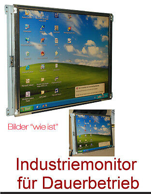 """43Cm 17"""" Tft Longtimeuse Monitor Industry Monitor 170E1-T3 Mit 2Mm Safetyglass-!"""