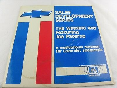 Rare Chevrolet Sales Development Series The Winning Way Paterno Laser Disc