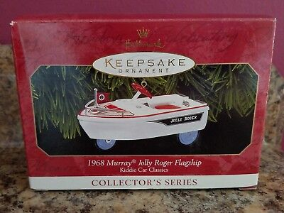 1999 Hallmark Ornament 1968 MURRAY JOLLY ROGER FLAGSHIP #6 Kiddie Car Classics