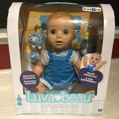 LuvaBeau Interactive Baby Blonde Boy Doll Luva  IN HAND - NEW Hot Toy HTF
