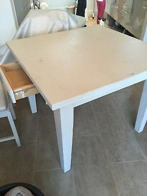 pine dining table - Painted