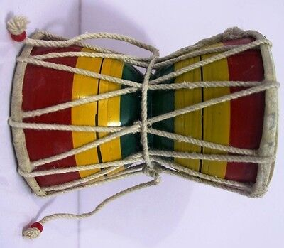 Big Size Handmade Wooden Damru Damaroo Percussion Indian Classical Instrument