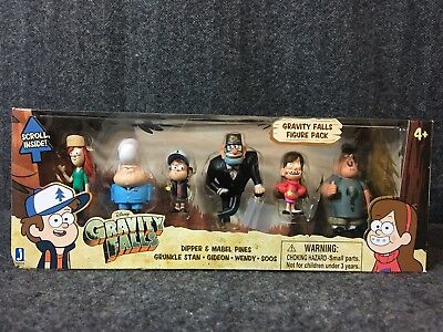 Jazwares Inc GRAVITY FALLS 6 Figure/Figurine Pack With Scroll - Disney XD
