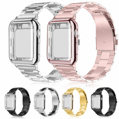 For Apple Watch Series 2/1 Stainless Steel Wrist iWatch Band Strap + Case Cover