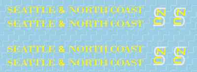 *NEW* N-Scale Seattle & North Coast Decal Set *NEW*