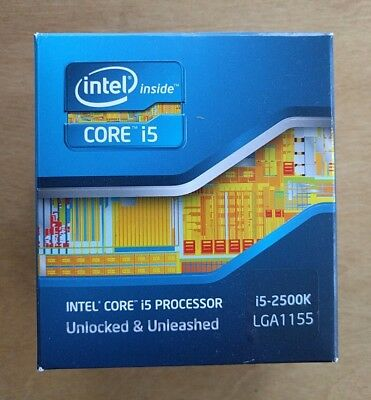 INTEL CORE I5 2500K Unlocked Quad-Core CPU, Sandy Bridge, Socket LGA 1155 - £96.00 | PicClick UK