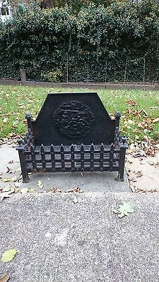 Fire Grate Basket Cast Iron  Black Used