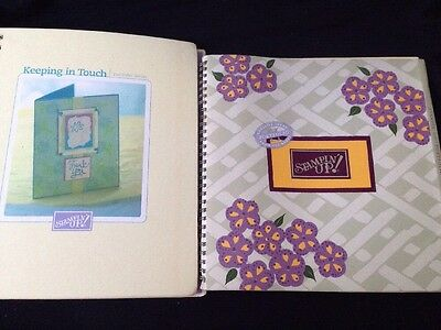 2 Stampin Up Portfolio Series Idea Books Keeping in Touch 2001 2002 Hard Cover