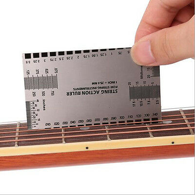 New String Act Gauge Rulers Guide Setup Guitar Bass Electric Measuring LuthierEF