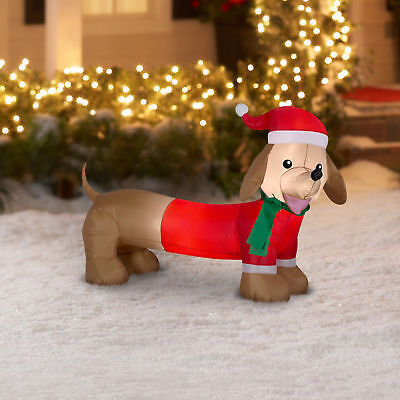 Airblown Inflatable-Dachshund 4ft wide Dog Christmas New