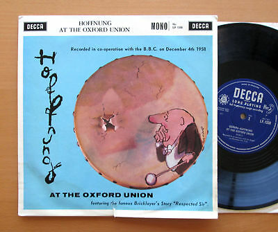 "Hoffnung At The Oxford Union 1958 Mono 10"" Vinyl - Decca LF 1330 EX/VG"