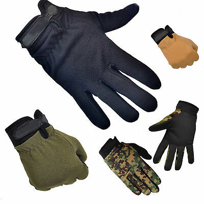 Men Military Tactical Airsoft Shooting Hunting Full Finger Gloves 3 Size POP