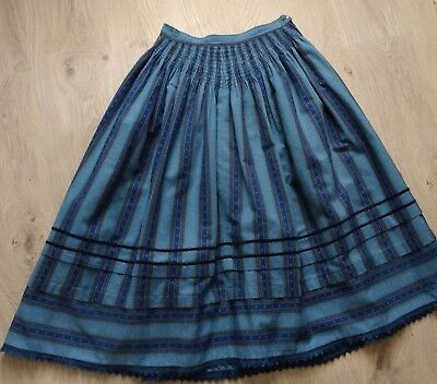 German Austrian Vintage Blue Dirndl Skirt 6