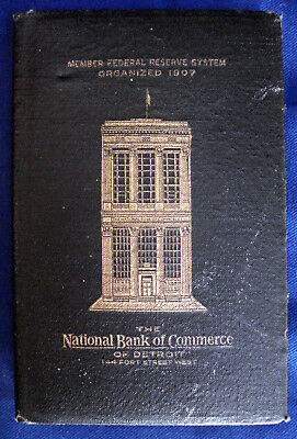 National Bank Of Commerce Of Detroit Advertising Coin Bank A. R. Safe Co Chicago