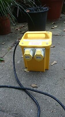 Carroll & Meynell Portable Tool Transformer With 2 Output Sockets 3Kva Used