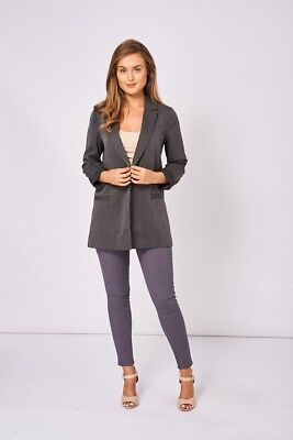 Blazer Cardigan Smart Long Sleeve Open Front Loose Oversized Suit Jacket Coat