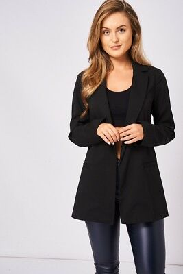 Blazer Women Coatigan Smart Long Sleeve Loose Oversized Suit Coat Open Front Top