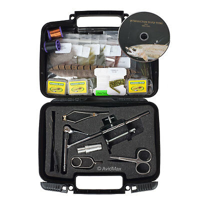 Scientific Anglers Deluxe Fly Tying Kit with DVD, Tools, Materials, & Vise 99413
