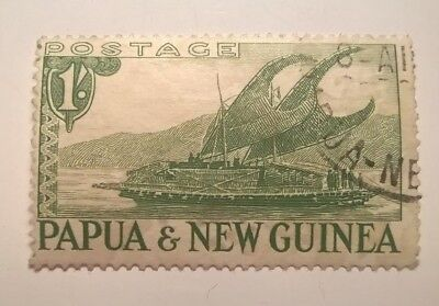 PAPUA & NEW GUINEA STAMPS - 1932 - 1 shilling GREEN - SG139 - USED