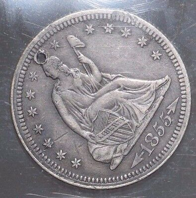 1855 25C Arrows Liberty Seated Quarter, INCREDIBLE details, Full lines, NR!!!