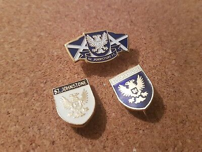 St  Johnstone    F c  -  3  Old  Football  Pin  Badges
