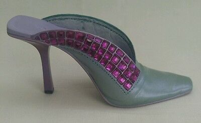 Just The Right Shoe Purple Passion 25362 Miniature Slide On Bejeweled High Heel