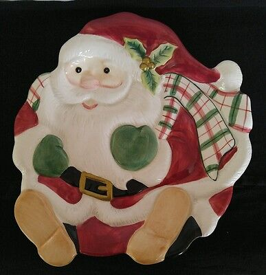 Fitz and Floyd Essentials Santa Claus Canape Dessert or Wall Hanging Plate