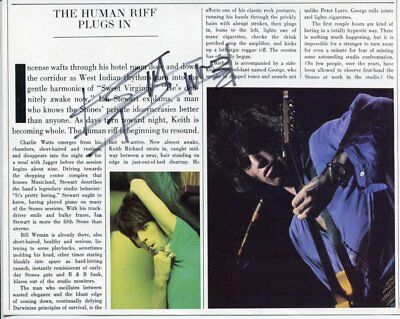 the rolling stones KEITH RICHARDS autograph HAND SIGNED 5869
