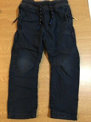 Next Boys Lined Navy Trousers Age 2-3 Years