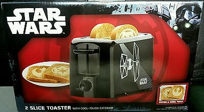 NEW STAR WARS 2 SLICE TOASTER W/ REBEL & EMPIRE logo image ROGUE ONE DISNEY