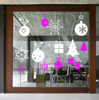 Xmas Baubles Stickers Christmas Window Decoration  Cristmas Wall Stickers  Ss49