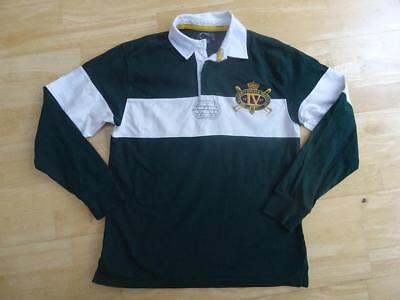 RALPH LAUREN POLO boys green white long sleeve rugby style top AGE 10-11 YEARS