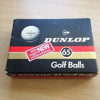 Rare Vintage Sealed Box of Dunlop 65  Golf balls - See pictures!!!