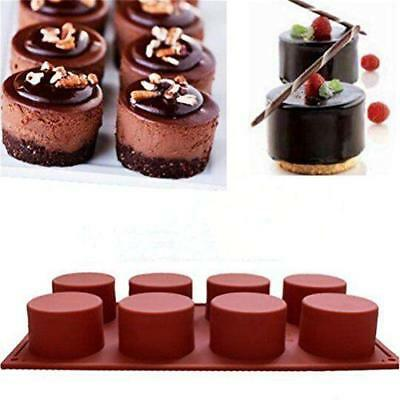 New 8 Round Shape Silicone Chocolate Sweet Cake Ice Soap Mould Cb