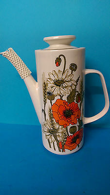 Vintage J & G Meakin Poppy Coffee Pot