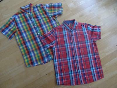 NEXT boys 2 x short sleeve check shirts AGE 10 YEARS EXCELLENT COND