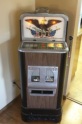 """Vintage Jennings 1947 Twin Play """"Challenger""""Slot Machine Working"""