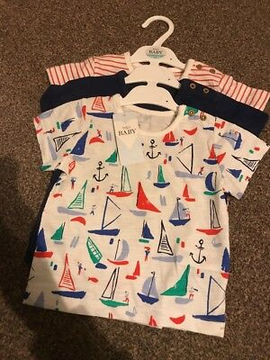 Baby Boys M&S Marks & Spencer's T-Shirts 3 Pack 9-12 Months RRP £12