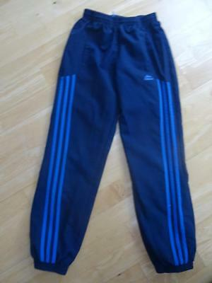 ADIDAS boys navy blue tracksuit trousers AGE 9-10 YEARS AUTHENTIC