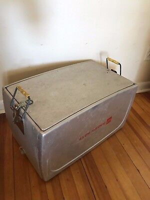 "Vtg Metal Coca-Cola Cooler Progress Refrigerator Co. ""It's the Real Thing"" USA"